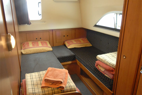 One of the aft cabins on the Silver Breeze