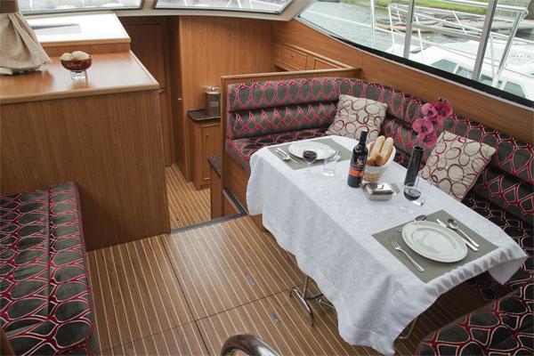 The Saloon on the Silver Ocean Cruiser
