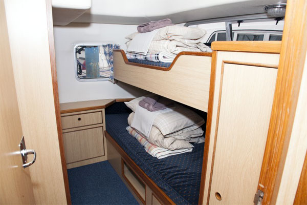 Cabin with Bunk Beds on the Silver Swan hire cruiser