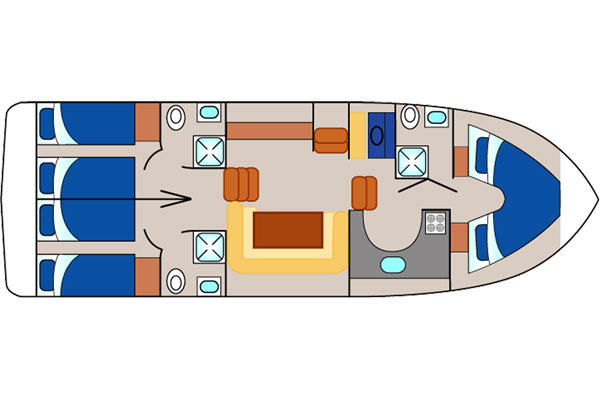 Layout of the Silver Spirit Cruiser.