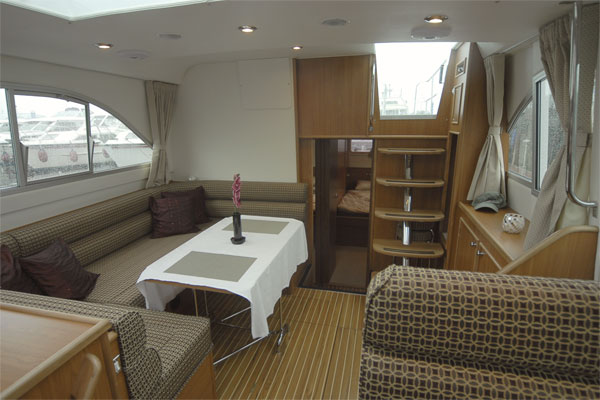 Saloon on the Silver Spirit Hire Cruiser