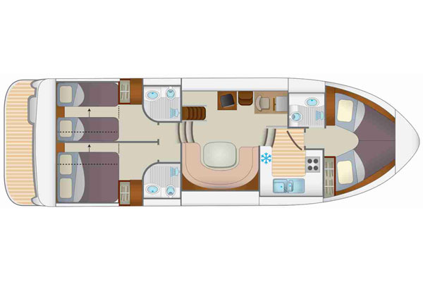 Layout of the Tipperary Class hire boat