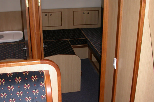 Aft Cabin on the Wateford Class Hire Cruiser