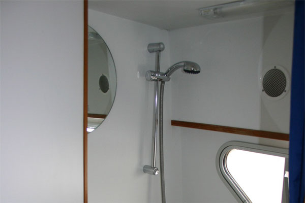 Toilet/Shower on the Waterford Class Hire Boat Ireland