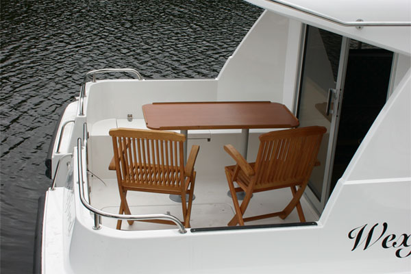 The rear cockpit on the Wexford Cruiser