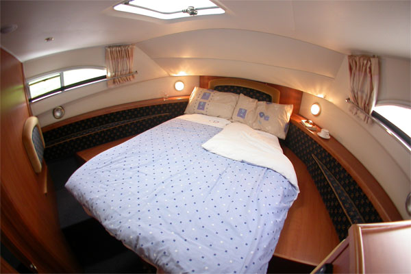 Front cabin on the Wexford - converts to two single beds.