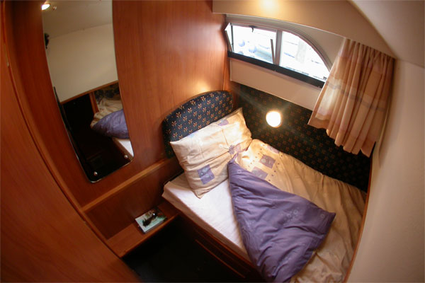 One of the two single cabins on the Wexford Class Hire Boat