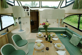 The Saloon on the Caprice.