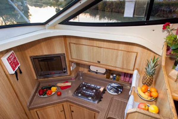 The Galley on the Consul Hire Boat
