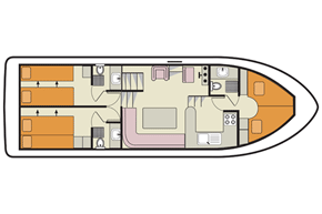 Plan of the Crusader 6 berth cruiser