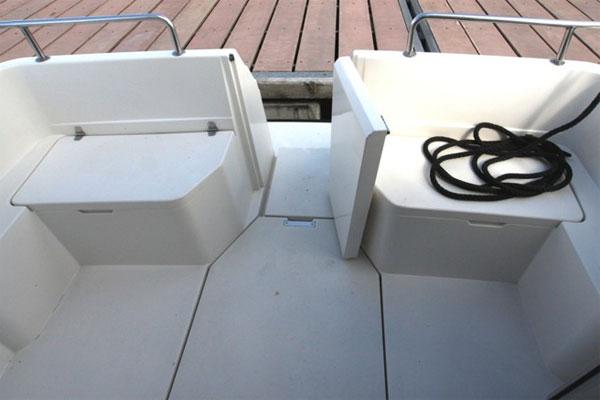 Bathing platform on the Wave Duke hire boat.