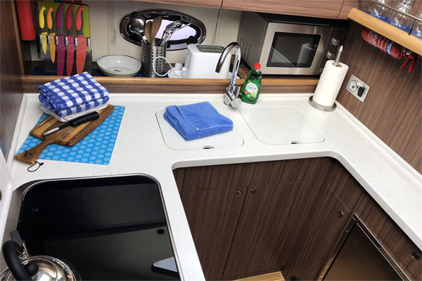 Galley on the Noble Emperor Hire Boat