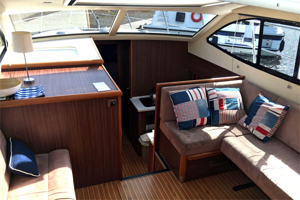Saloon on the Noble Emperor Hire Cruiser