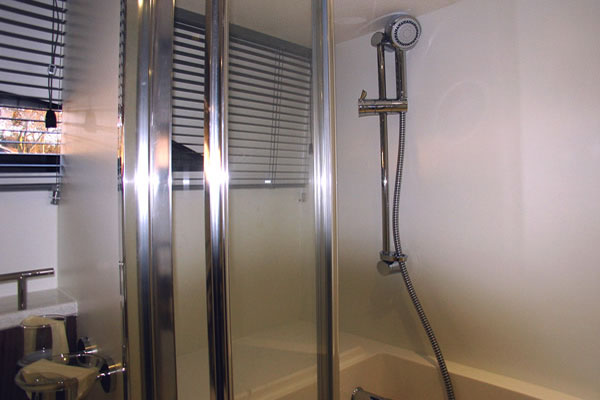 Shower on the Noble Emperor Hire Cruiser
