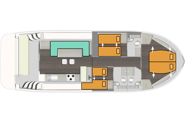 Layout of the Horizon 3 hire cruiser.