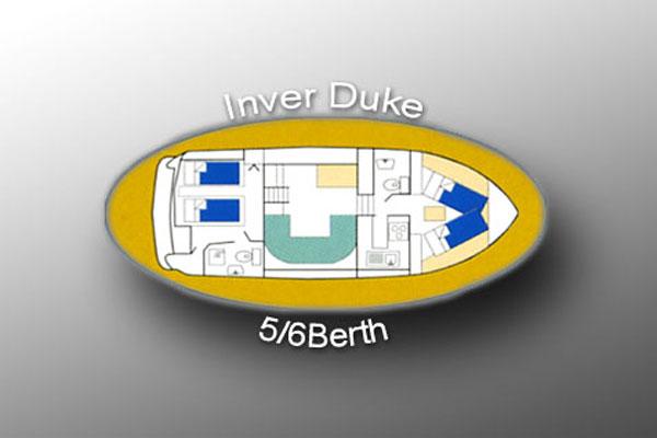 Layout of the Inver Duke Hire Cruiser, Ireland.