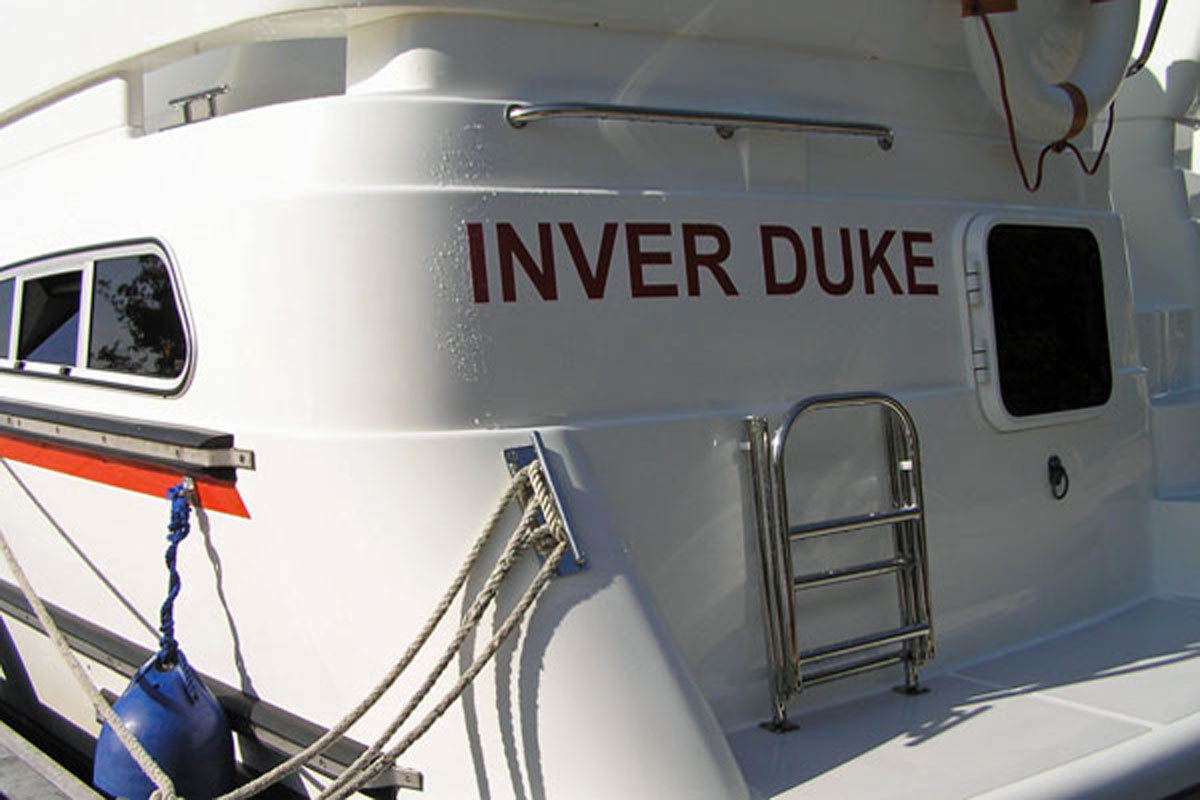 Rear view of the Inver Duke Hire Cruiser, Ireland.