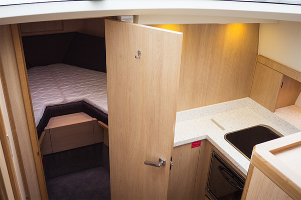 Sleeping Cabin on the Inver Queen Hire Boat