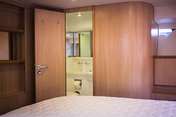 Sleeping Cabin on the Inver Queen Hire Cruiser