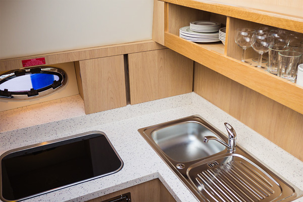 Galley on the Inver Queen Hire Cruiser