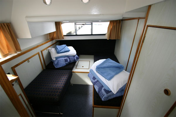 Aft Cabin on the Kilkenny Class Hire Boat.