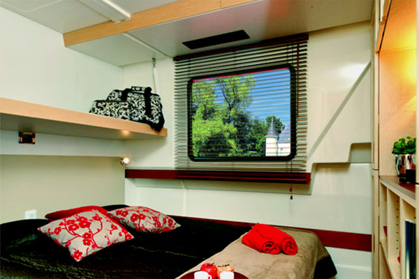 One of the cabins on the Vision Cruiser - Shannon River Cruising Ireland
