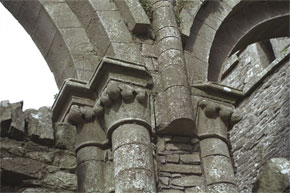 Some of the fine stonework at Boyle Abbey