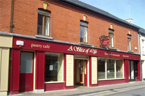 Open from 9 to 6 Monday to Saturday, serving hearty Irish breakfast, carvery lunch and after noon specials. Desserts pastries and coffees  a speciality