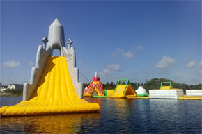 We are Irelands largest floating water park and have the tallest floating slide in the world. We also provide ride on kayaks, peddle boat hire and other water sport activities.