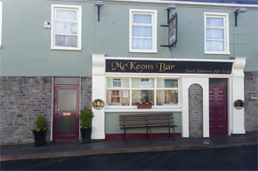 Failte: Call to Mc Keons Bar Keshcarrigan, you will be welcomed by an inviting open fire and music at weekends.
