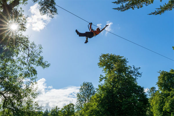 Zipit Forest Adventures in Lough Key Forest Park, - High wire Adventures course up to 4 hours of adrenaline-filled fun  in the treetops.