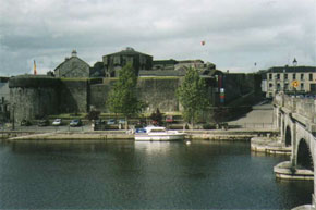 Athlone Castle from the Shannon River