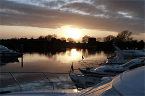 Boats moored at Banagher