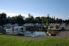 Boats moored at Dromod Harbour
