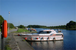 Boats Moored at the Quayside at Drumsna.