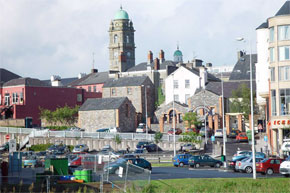 The busy town of Enniskillen on Lough Erne