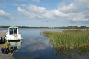 Moored on Lough Ree near Glasson