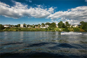 Jet skiing on Lough Derg