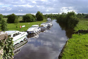 Boats moored a Leitrim Village Ireland