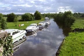 Boats moored a Leitrim Village Ireland