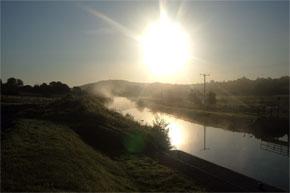 Sunrise over the Shannon-Erne Waterway near Leitrim