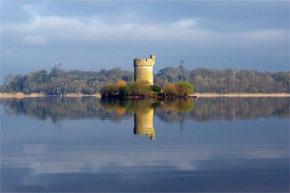 Tower on an island on Lough Erne near Lisnaskea