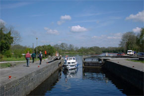 Boats Entering Roosky lock
