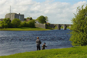 Fishing near the bridge at Shannonbridge