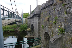 Bridge and Walkway at Ballyconnell on the Shannon Erne Waterway