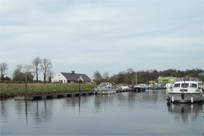 Boats moored at Belturbet