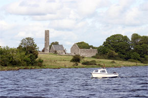 Holiy Island on Lough Derg near Kilgarvan