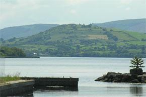 Lough Derg viewed from Mountshannon Harbour